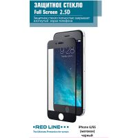 Защитное стекло для iPhone Red Line для 6/6s матовое, черный